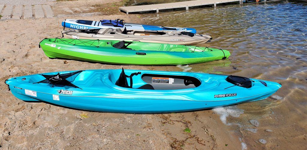 Kayak and paddleboard rentals at Holiday Park Traverse City
